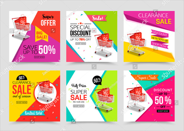 Collection of Modern Sale Banner Template