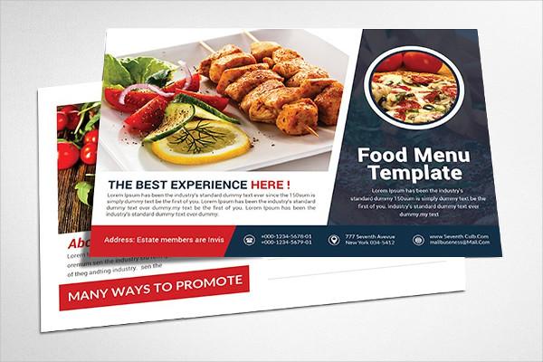 Cool Restaurant Post Card Design