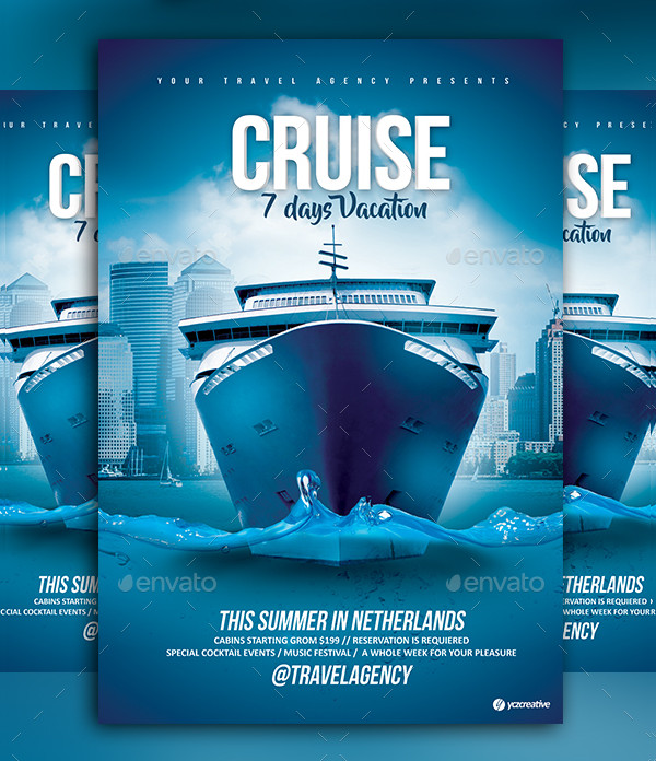 Cruise Vacation Flyer Design
