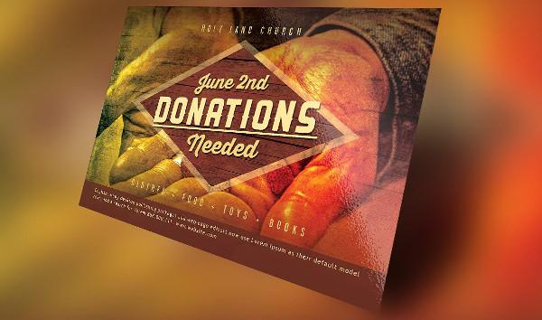 Donations Church Flyer Template