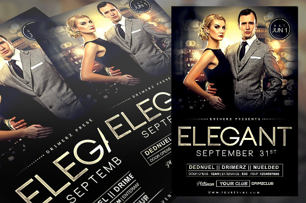 Elegant Style Flyer with Class