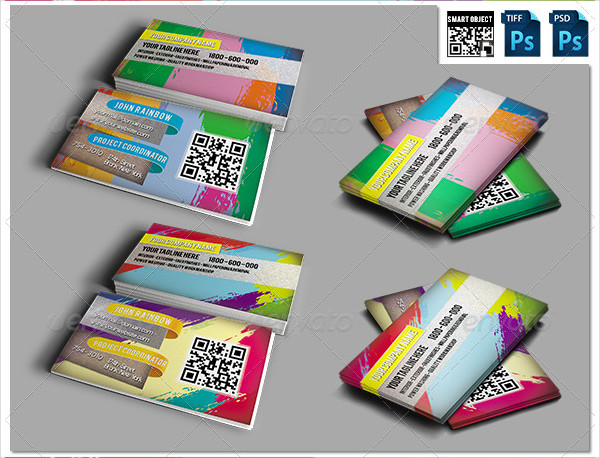Elegant Painting Business Cards PSD