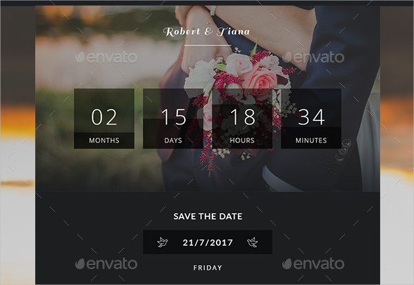 Save the Date Email Invitation Template