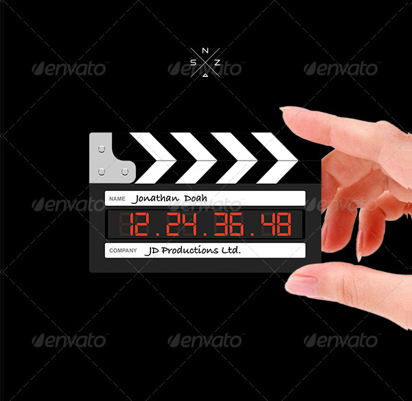 Film Clapperboard Business Card Photoshop