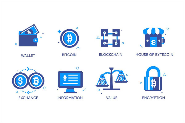Flat Line Currency Icons