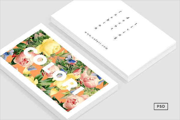 Floral Nature Business Card Template