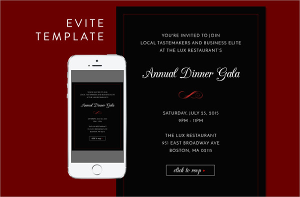 Formal Dinner Email Invitation PSD Template