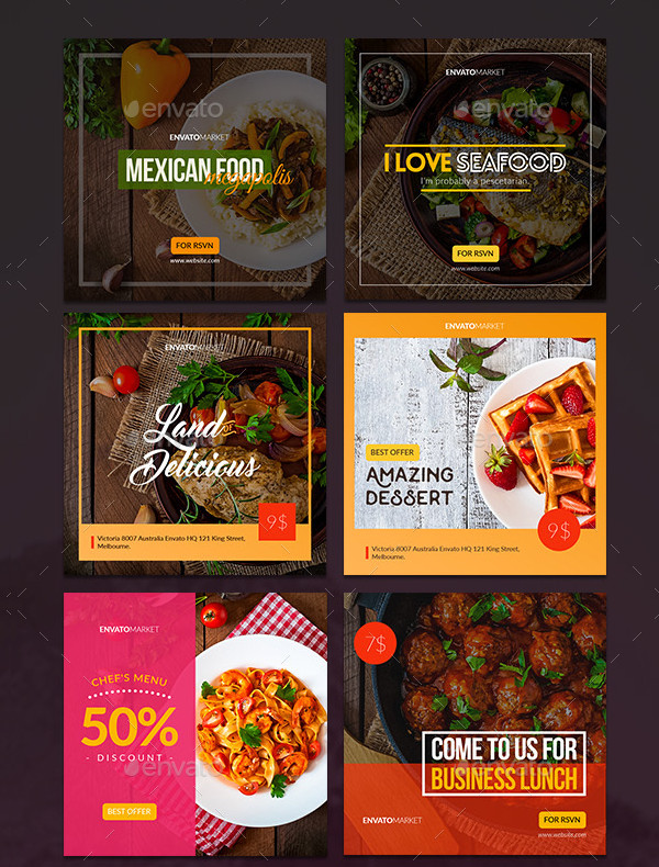 Amazing Instagram Food Banners