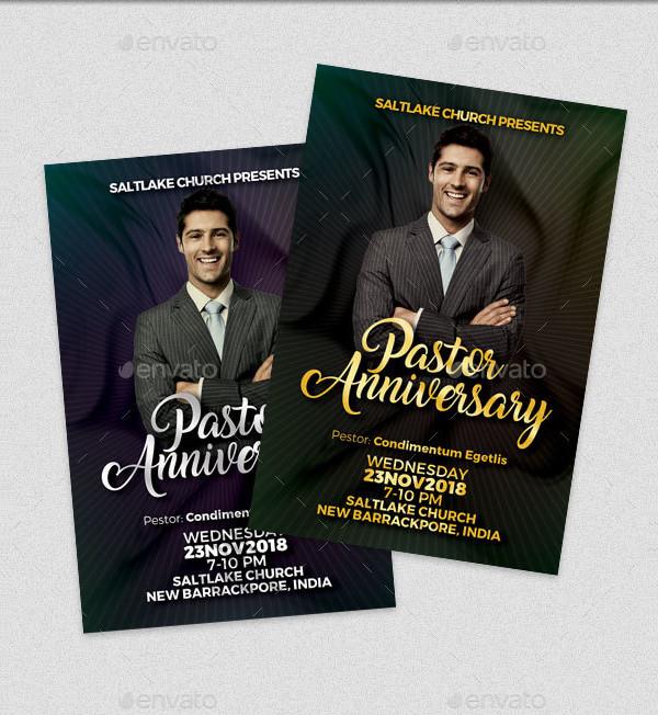Pastor Anniversary Event Flyer