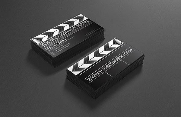 Unique Film Director Business Card Design