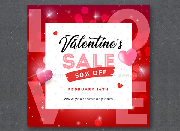 Custom Valentines Day Discount Banners