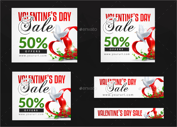 Valentines Day Promotions Banner Set