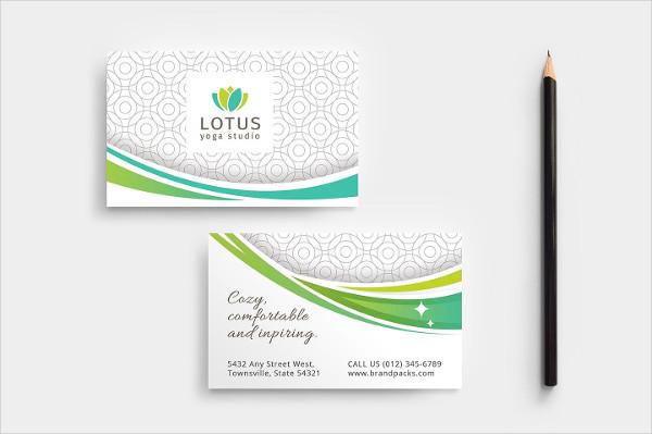 Yoga Class Business Card Template