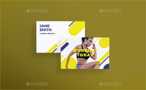 Yoga & Workout Business Card Template