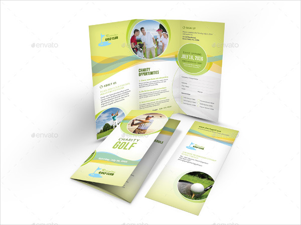 Charity Golf Trifold Brochures