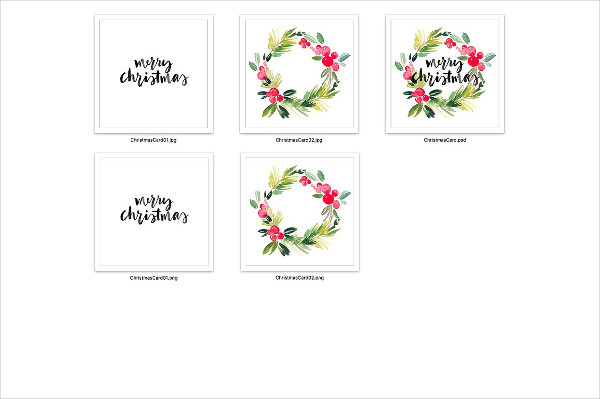 Christmas watercolor Greeting Cards