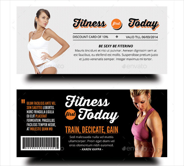 Fitness First Today Health Promotional Gift Voucher Design
