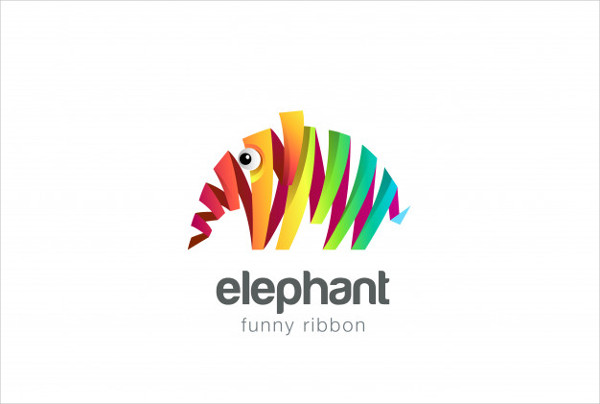 Free Download Colorful Ribbon Elephant Abstract Icon