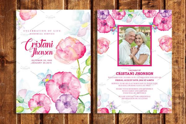 Unique Funeral Program Invitation Card Templates