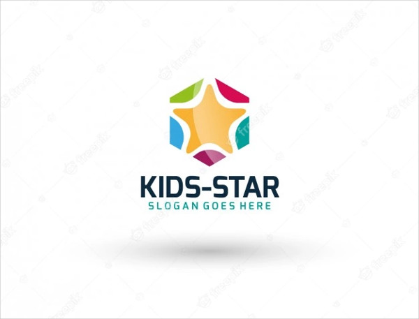 Kids Star Logo Template with Modern Style Free
