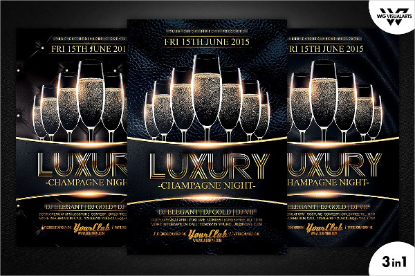 Luxury Champagne Flyer Design Template