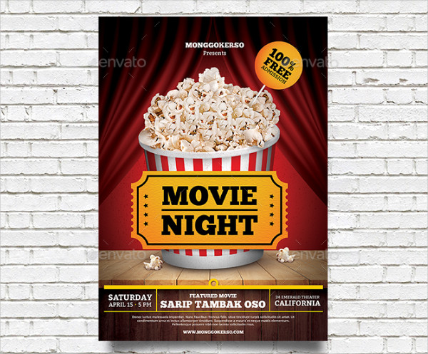 Family Movie Nights Flyer Template