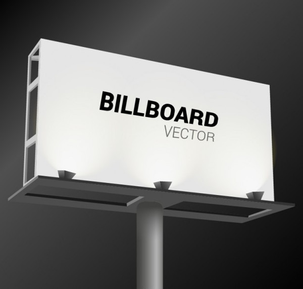 White Billboard Vector Free