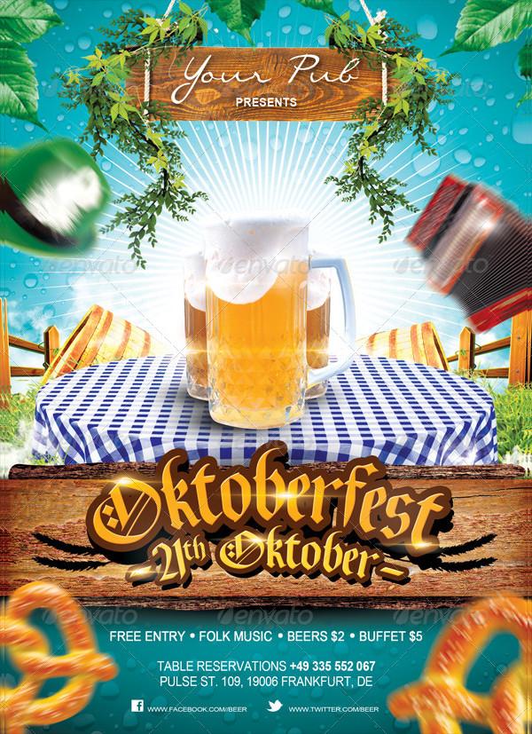 Cool Oktoberfest Poster Template