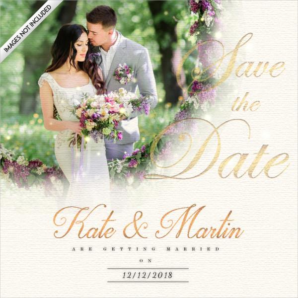 Free Elegant Wedding Invitation Card with Royal Effect