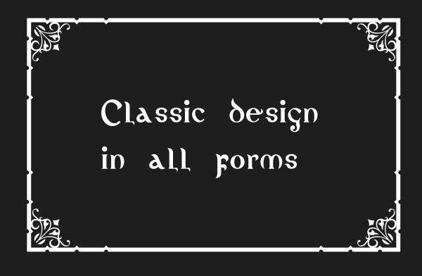 Beautiful and Classic Project Font