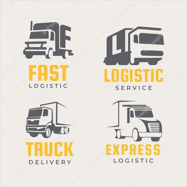 Set of Delivery Logos of Truck Free