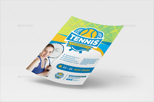 Amazing Tennis Poster And Flyer