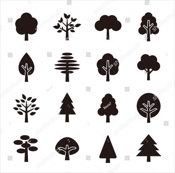 Unique Tree Icon Set