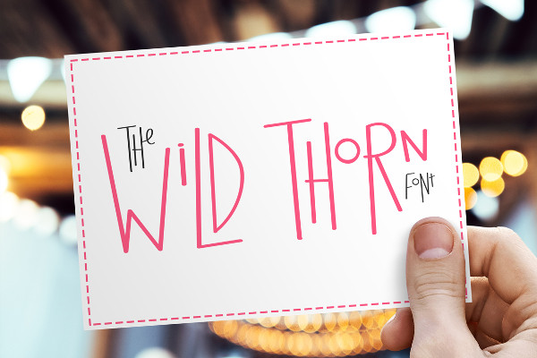 Cartoon Wild Thorn Font