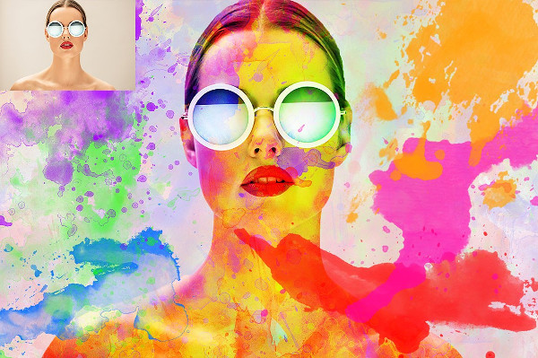 Color Splatter Photoshop Action