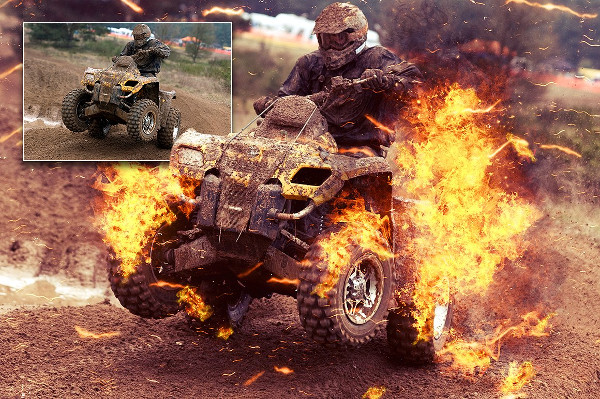 Professional Fire Photoshop Action