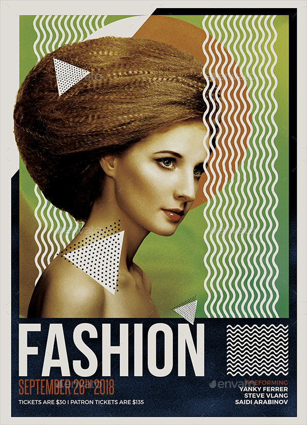 A3 Fashion Poster Template