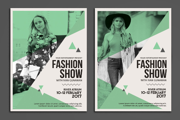Clean Fashion Show Poster