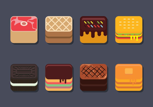 Free Download Food App Icon Set