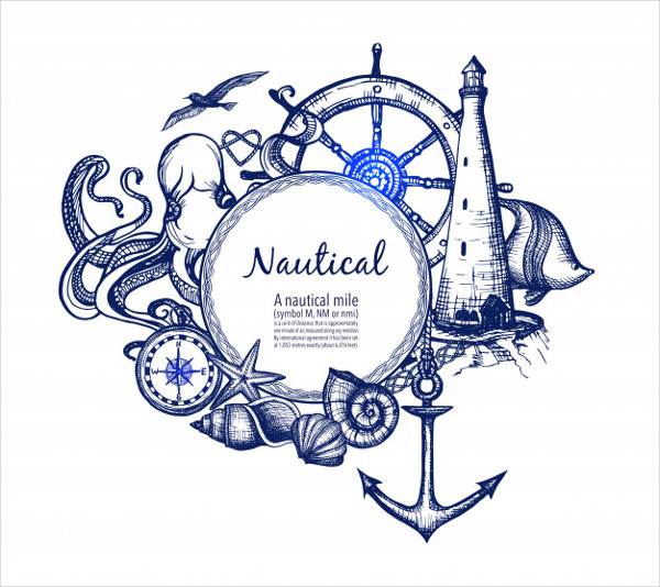 Nautical Marine Composition Icon Doodle Free