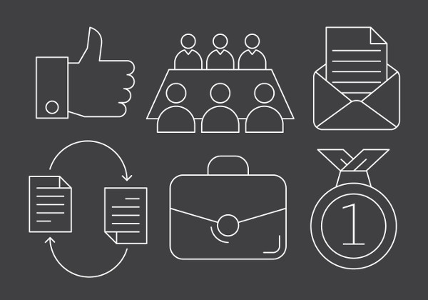 Business And Teamwork Icons Free Download