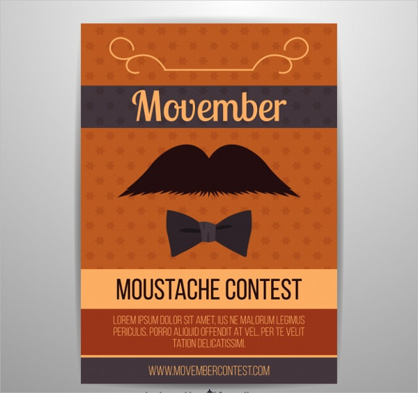 Moustache Contest Flyer Free Download