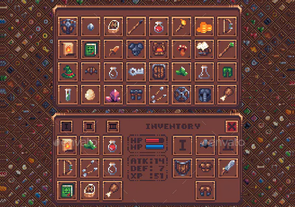 Simple Pixel Art Icon Set