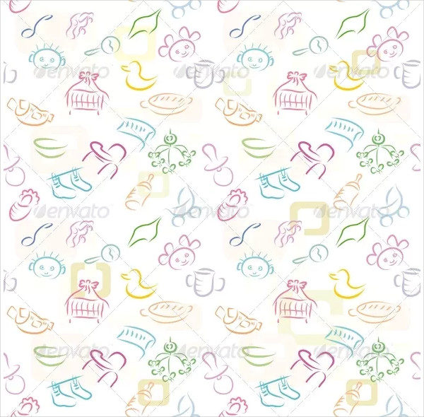 Sketch Baby Background Pattern