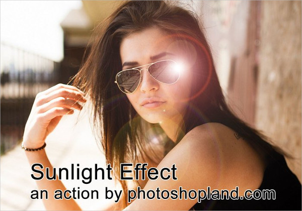 Sunlight Effect Photoshop Action Free Download