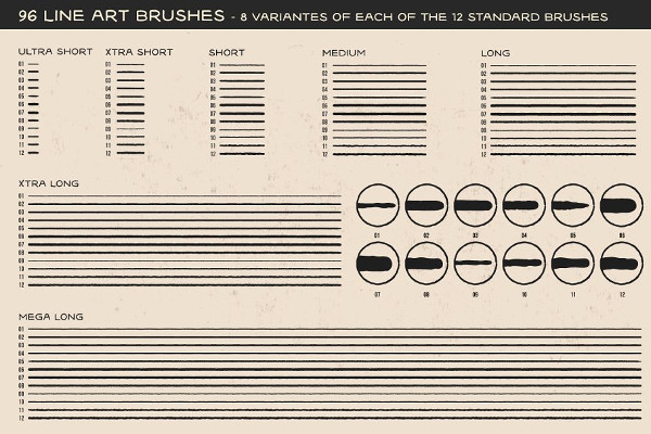 Tattoo Art Brush Pack for Illustrator