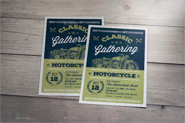 Classic Gathering Motorcycle Flyers