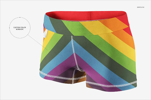 Compression Shorts Mockups Set