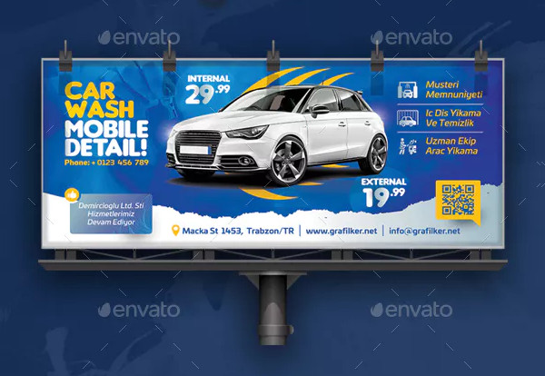 Custom Car Wash Billboard Templates