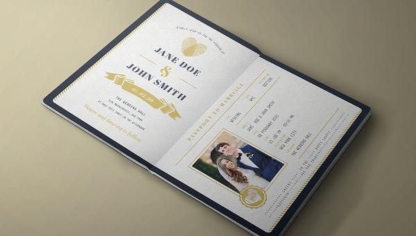 Passport Wedding Invitation Template